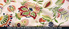 20% Off All Online Linen Category Fabrics 7/12 - 7/25 https://www.britexfabrics.com/fabric/linen-fabric.html?limit=30 #linen #fabricsale #onlinesale #sale #fabric #linen