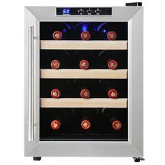 """Firebird New 16-bottle Thermoelectric Quiet Operation Wine Cooler Cellar Chiller Refrigerator External Dimension(in): 13.38"""" W x 20.27"""" L x 18.43"""" H Internal Dimension(in): 11"""" W x 13"""" L x 14"""" H Bottle Capacity: 12 Temperature Range: 50°F - 66°F 1 year Parts Warranty against manufacture defects"""