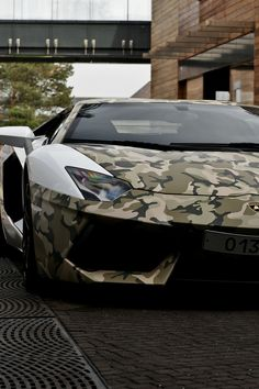 Army Camouflage Lamborghini Aventador