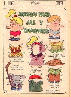 Sal y Pimienta   Muñecas Recortables. Recuerdo perfectamente a Sal y Pimienta.