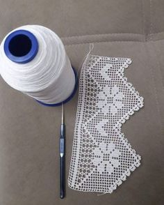 Dowry lace pattern «knitting home, knitting baby, knitting pattern, elis … - lace things Filet Crochet, Crochet Lace Edging, Crochet Motifs, Crochet Borders, Crochet Cross, Crochet Chart, Crochet Squares, Crochet Doilies, Crochet Stitches