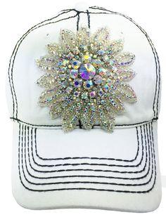 9ae70b6c659 Items similar to Ladies White Baseball Cap