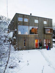 All wood housing