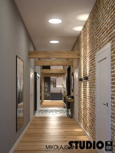 Home Library Design, House Design, 5 Marla House Plan, Corridor, Modern Industrial, House Plans, Sweet Home, New Homes, Architecture