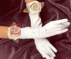 China Bridal Accessories Gloves, Wedding Gloves Find details about China Gloves, Bridal Gloves from Bridal Accessories Gloves, Wedding Gloves - Paris Bridal Co. Hand Flowers, Wedding Gloves, Knitted Flowers, Bridal Accessories, Bridal Dresses, My Style, Roses, Weddings, Regency