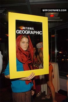 Halloween costume idea - derived from the famous Afghan Girl cover photo