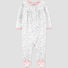 e9efc8e493 Baby Girls  Safari Sleep  N Play - Just One You made by carter s Pink White  3M