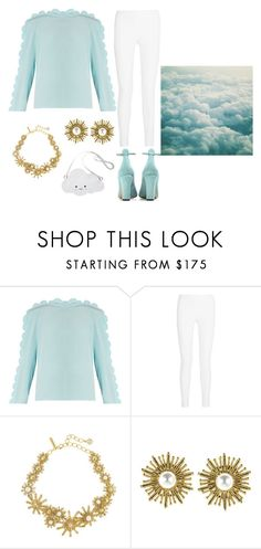 """""""Get your Head out of the Clouds"""" by laney-6428 ❤ liked on Polyvore featuring Fendi, Joseph, Oscar de la Renta and Valentino"""
