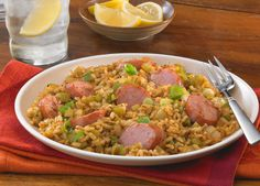 Smoked Sausage Cajun Dirty Brown Rice... a perfect #EasyCajun with #JohnsonvilleSausage recipe – ENTER at http://johnsonville.com/easycajun #contest #sweepstakes