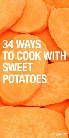 34 ways to cook sweet potatoes!