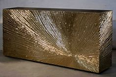 Golden Starburst Console - Viya Home Metallic brutalist midcentury brass gold console contemporary glamorous consoles sideboard table furniture handcrafted Indian Console Furniture, Furniture Near Me, Furniture Ads, Luxury Furniture, Wooden Furniture, Furniture Cleaning, Furniture Stores, Furniture Makeover, Outdoor Furniture