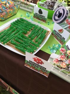 Minecraft & Video Games Birthday Party Ideas, #Food, #Party