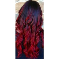 Red and black hair ombré.