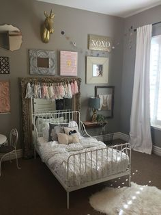 My little girls CUTE bedroom! I love her cute @ikea toddler bed that can stretch and be a normal twin size bed.