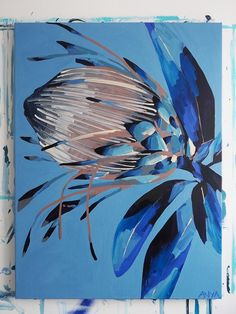 Anya Brock Protea paintings and prints as featured on The Block. Pictures To Paint, Art Pictures, Abstract Canvas, Botanical Art, Flower Art, Art Flowers, Painting Inspiration, Original Paintings, Illustration Art