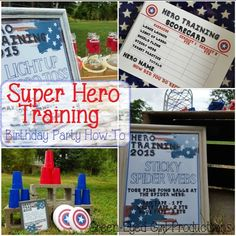 Super Hero Training Birthday Party Theme. Obstacle Course for Toddlers! Captain America theme too!