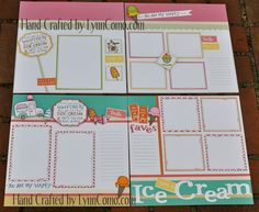 Love these colorful pages for Ice Cream snapshots.  Enjoy the season!