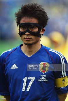 Portrait of Tsuneyasu Miyamoto of Japan before the FIFA World Cup Finals 2002 Group H match between Japan and Tunisia played at the Osaka-Nagai Stadium, in Osaka, Japan on June 14, 2002. Japan won the match 2-0. DIGITAL