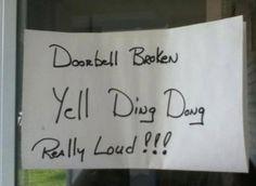 Door bell Broken