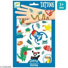 Compra nuestros productos a precios mini Tatuajes temporales Animales con hocico - 1 plancha - Entrega rápida, gratuita a partir de 89 € !