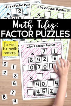 Math Tiles: 2 by 2 Factor Puzzles Fifth Grade, Third Grade, Teaching Place Values, Teaching Critical Thinking, Math Multiplication, Problem Solving Skills, Teaching Resources, Teaching Art, Guided Math