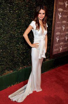 rachel bilson ~ satin red carpet glamour