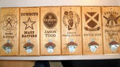 Custom Small Plaque bottle openers for weddings or just for fun