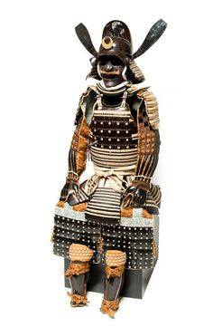 'Domaru type armor with Chinese magistrate's cap,' 18th century by International Arts & Artists, via Flickr