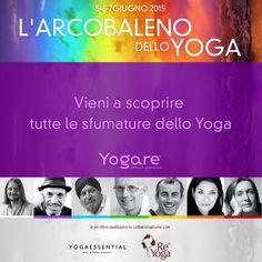 Gli insegnanti che prenderanno parte al ritiro sono: Elena De Martin (Ashtanga Yoga) Anna Inferrera (Vinyasa Yoga) Piero Vivarelli (Anusara Yoga) Roberto Rinaldini (Meditazione) Siri Gopal Singh (Kundalini Yoga) Andrea Boni (Anusara Yoga e Meditazione) Jayadev Jaerschky Ananda yoga)  Per info visita la pagina http://blog.yogare.eu/eventi/ Per prenotare il tuo posto scrivici a ritiro@yogare.eu
