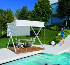 Portable Contemporary Pool Gazebo