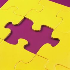 A Puzzling Contrast ~ Purple and Yellow