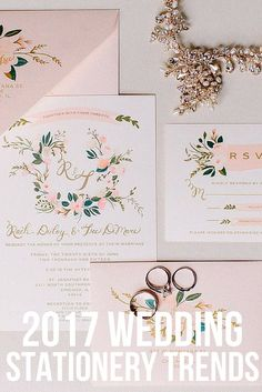 2017 Wedding Stationery Trends | La Belle Fleur Events