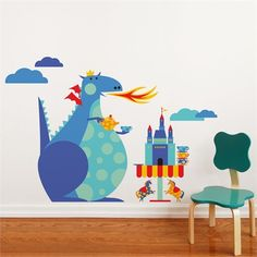 Rosenberry Rooms is offering a 10% discount on your purchase of $350 or more.  Share the news and take advantage of the savings! Dragon Tea Party Wall Decal #rosenberryrooms