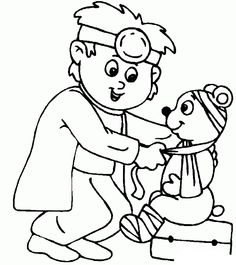 Dibujos de médico para colorear y pintar. Imprimir dibujos de ...