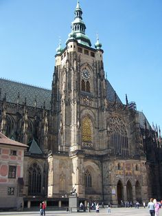 The Golden Gate - the southern entrance to the cathedral of St. Vitus in Prague, Czech Republic