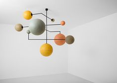 LAMPADA 061DIMORESTUDIO,PROGETTO NON FINITO2009Ceiling lamp, structure in matte black painted metal and handmadespheres in coloured fiberglass.w.192 x d.190 x h.100 cmw.142 x d.145 x h.227 cm