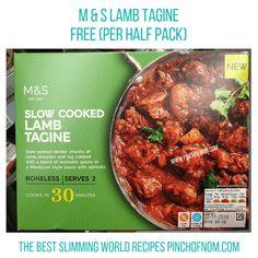 MS Lamb Tagine - Pinch of Nom Slimming World Shopping Essentials Aldi Syns, Slimming World Treats, Slow Cooked Lamb, Lamb Shoulder, Slimming World Recipes, Chicken Wings, Free Food, Slow Cooker, Nom Nom