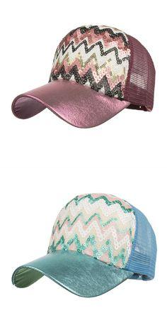 Fashion women ponytail baseball cap sequins shiny messy bun snapback hat  sun caps hip hop baseball 52030e3a858a