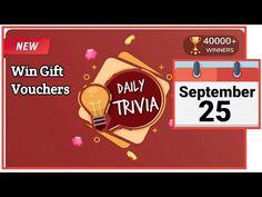 Flipkart Daily Trivia Quiz | Today Flipkart Trivia Answers | 25 September 2020 | Flipkart Daily Quiz - YouTube