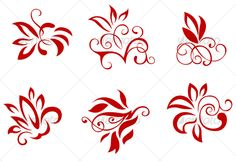 ▶ [Nulled]▻ Floral And Flower Decorations Art Cartouche Creativity Decoration Design Elegance Flower Pattern Design, Flower Patterns, Desenho Tattoo, Flower Wallpaper, Flower Decorations, Graphic Prints, Flower Art, Design Elements, Otaku