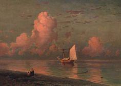 blue and pink cloud. Ivan Konstantinovich Aivazovsky