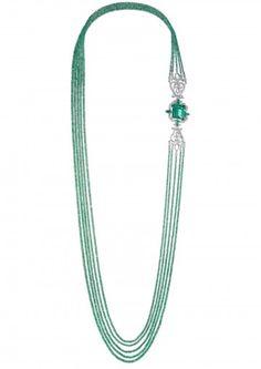 Agatha O | Chopard Necklace AN EXQUISITE EMERALD AND DIAMOND SAUTOIR