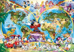 Disney-Characters around the world.