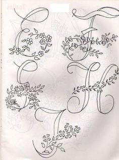 Textile Craft Patterns: Alphabets for Embroidery and Painting Embroidery Alphabet, Embroidery Monogram, Silk Ribbon Embroidery, Hand Embroidery Patterns, Vintage Embroidery, Beaded Embroidery, Cross Stitch Embroidery, Machine Embroidery, Embroidery Books