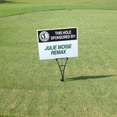Jamie Cook Golf Tournament hole sponsorship