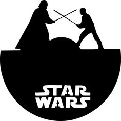 Star Wars Decal – Your Way Custom Decals and Tees Star Wars Silhouette, Silhouette Cameo, Desenho Do Star Wars, Star Wars Stencil, Stencils, Anniversaire Star Wars, Old Vinyl Records, Record Art, Scroll Saw Patterns