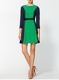 Marc by Marc Jacobs Avery Silk Colorblocked Dress