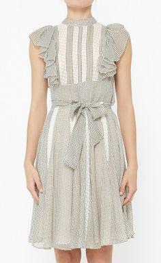 Gray lace holiday dress