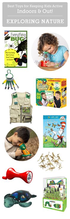 Great finds for getting kids interested in going outside and exploring - lots of detailed info. and age recommendations here.