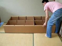 meuble carton en deux minutes - YouTube